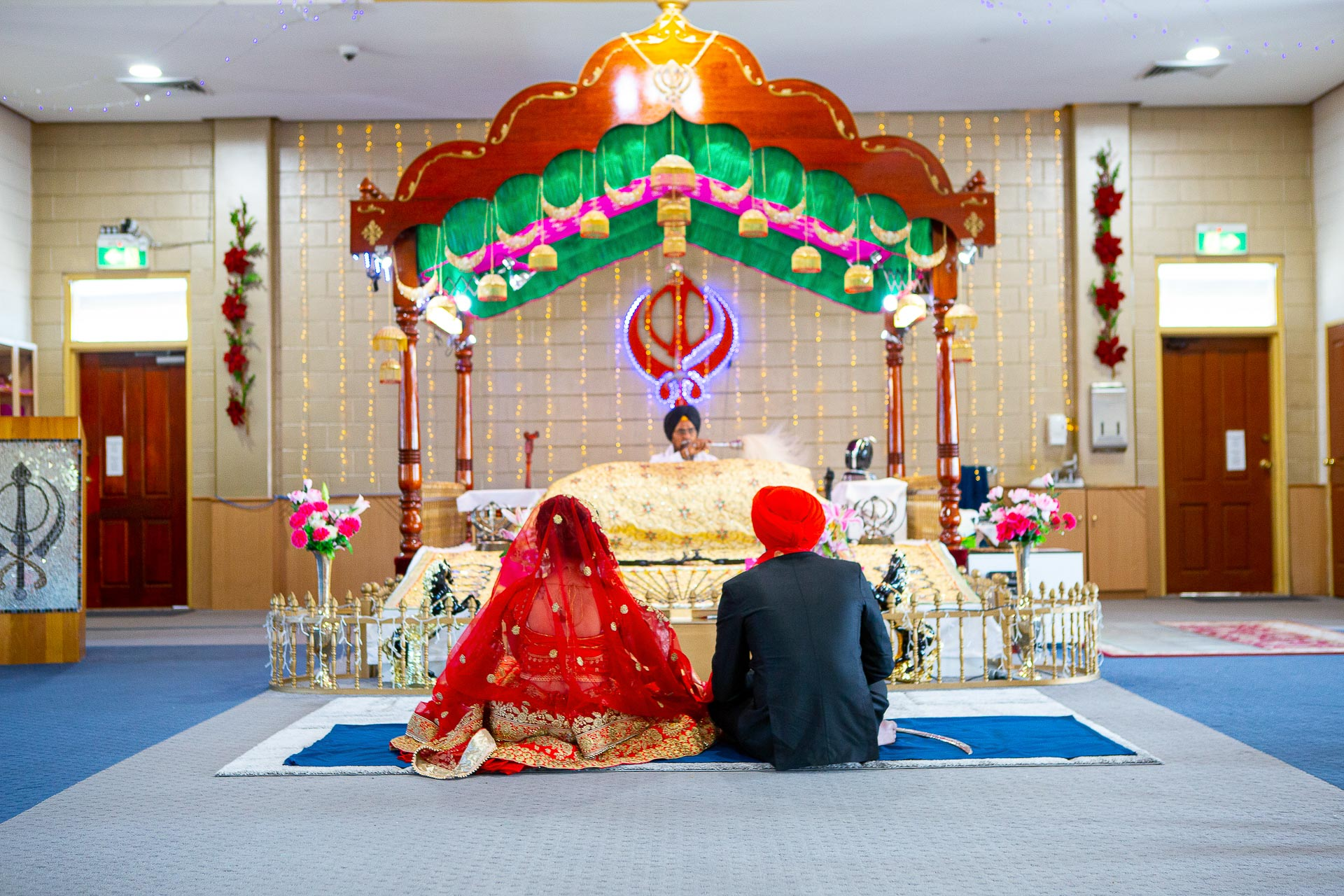 Sikh Gurudwara wedding photography temple ceremony