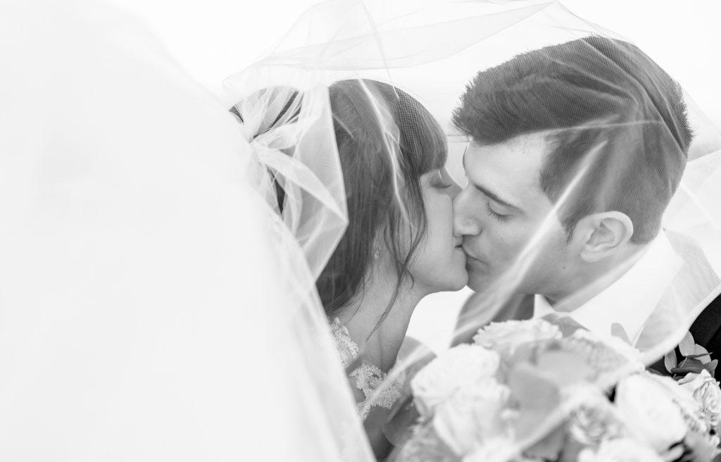 Low-light indoor wedding photography